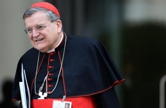 Cardinal Raymond Burke leaves meeting during Extraordinary Synod on the Family in Vatican City. Franco Origlia / Getty Images